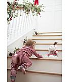 Kleinkind, Weihnachten, Morgens