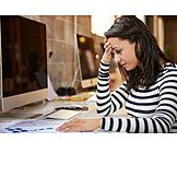 Young Woman, Office & Workplace, Overtime, Stress & Struggle
