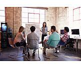 Meeting, Team, Präsentation, Teambesprechung