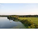 See, Luftaufnahme, Brandenburg