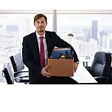 Geschäftsmann, Büro, Beförderung, Kündigung