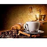 Coffee, Croissant, Breakfast