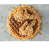 Waffles, American Cuisine, Chicken Leg