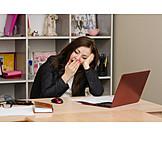 Müde, Stress & Belastung, Selbstständig, Home Office