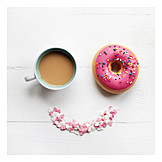 Coffee, Donut, Coffee biscuits