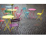 Straßencafé, Lokal, Nebensaison