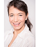 Frau, 30-45 Jahre, Lachen, Porträt
