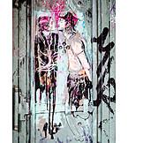 Love Couple, Streetart