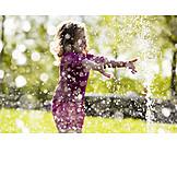 Girl, Summer, Waterdrop, Injecting