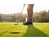 Putting, Golf Ball, Golfing