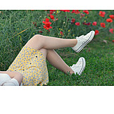 Junge Frau, Frau, Sorglos & Entspannt, Sommerlich