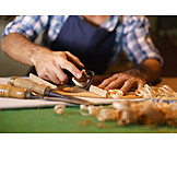 Handwerk, Hobeln, Instrumentenbauer