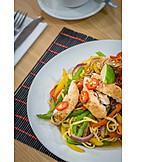 Asiatische Küche, Nudelpfanne