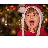 Girl, Christmas, Singing