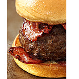 Bacon, Hamburger, American Cuisine
