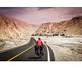 China, Bicycle tour, Road, Karakorum highway