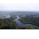 Aerial View, Eifel, Urft Dam