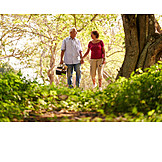 Walk, Picnic, Older Couple