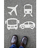 Airplane, Sports Track, Mobility, Car Rental, Long-distance Coach