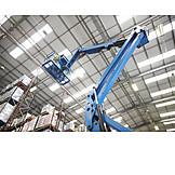 Man, Logistics, Crane, Warehouse, Storage Rack