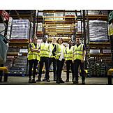 Logistik, Team, Warenlager, Mitarbeiter, Versandhandel