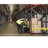Logistics, Warehouse, Scanning, Staff, Inventory, Warehouse Clerk