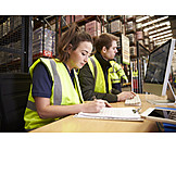 Young Woman, Young Man, Logistics, Inventory, Warehouse Clerk