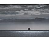 Sea, Width, Sailboat