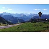 Mountain range, Karwendel, Rotwandalm