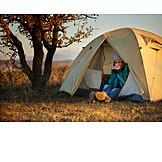Morning, Camping, Camping, Hiking vacation