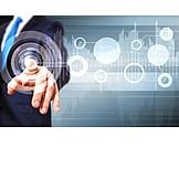 Geschäftsmann, Business, Digital, Virtuell