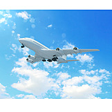 Airplane, Flying, Flight, Commercial Airplane