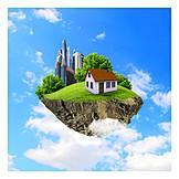 Alternative Energie, Einfamilienhaus, Energiesparhaus