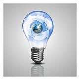 Light Bulb, Recycling, Regenerative, Recycling