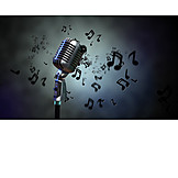 Music, Microphone, Musical Note