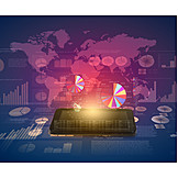 Economy, World Map, Financial Market