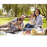Familie, Picknick, Familienausflug