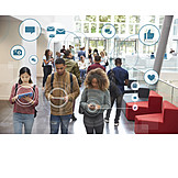 Mobile Kommunikation, Gesellschaft, Netzwerk, Smartphone