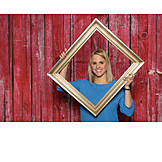 Young woman, Photo, Picture frame, Photo shoot