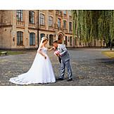 Romantic, Bridal Couple, Blowing A Kiss