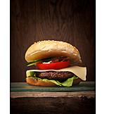 Crispy, Cheeseburger, American Cuisine