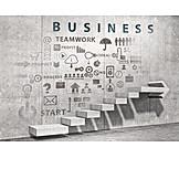 Business, Teamwork, Erfolgstreppe