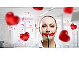 Valentine, Lipstick, Makeup