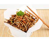 Asian Cuisine, Take Away, Pasta Box