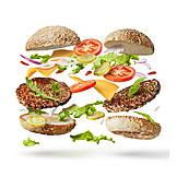 Zutaten, Burger, Amerikanische Küche