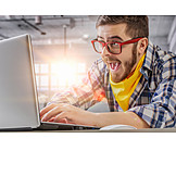 Laptop, Student, Büroangestellter