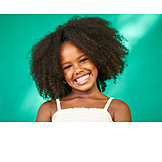 Girl, Afro, African american