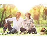 Paar, Picknick, Sommerlich