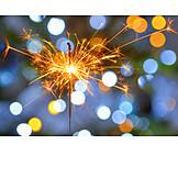 New years eve, Sparkler, Sparks