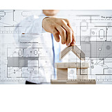 Blueprint, Building Construction, Architect, Construct